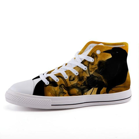 Printy6 Shoes 35 Maletropolis Custom High-Top Sneakers - Raven