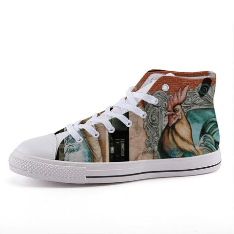 Printy6 Shoes 35 Maletropolis Custom High-Top Sneakers - Rooster