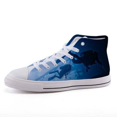 Printy6 Shoes 35 Maletropolis Custom High-Top Sneakers - Scuba