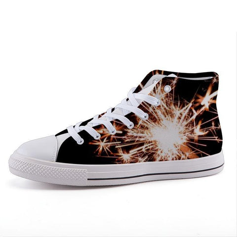 Printy6 Shoes 35 Maletropolis Custom High-Top Sneakers - Sparklers