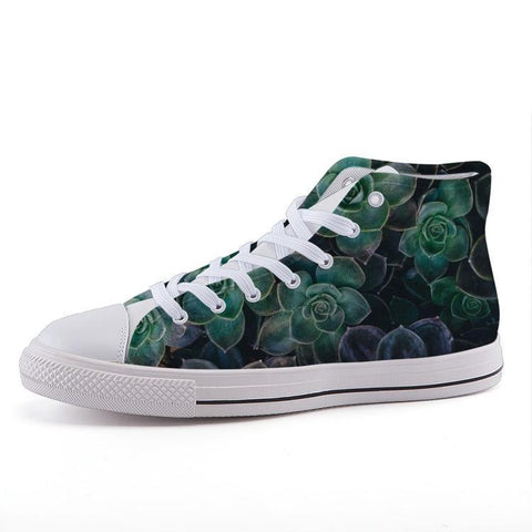 Printy6 Shoes 35 Maletropolis Custom High-Top Sneakers - Succulents