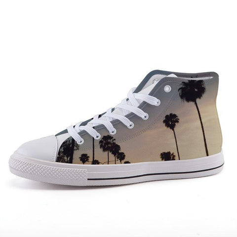 Printy6 Shoes 35 Maletropolis Custom High-Top Sneakers - Sunset Boulevard