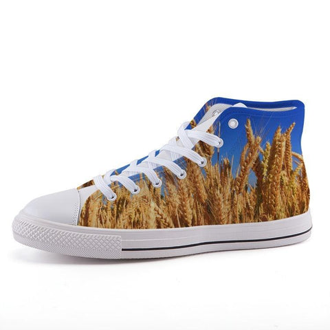 Printy6 Shoes 35 Maletropolis Custom High-Top Sneakers - Wheat