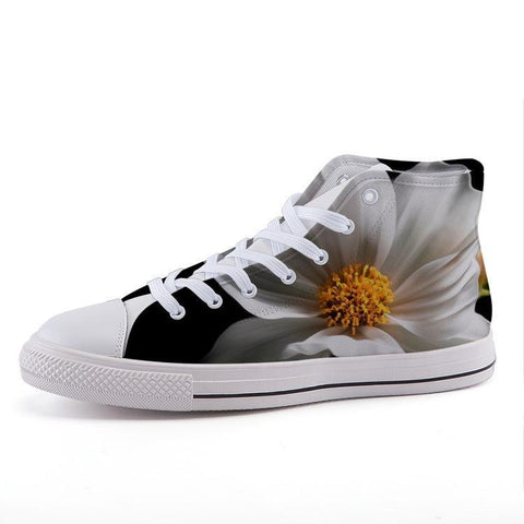 Printy6 Shoes 35 Maletropolis Custom High-Top Sneakers - White Clematis