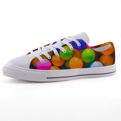 Printy6 Shoes 35 Maletropolis Custom Low-Top Pride Sneakers - Ball Pit
