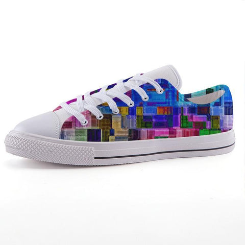 Printy6 Shoes 35 Maletropolis Custom Low-Top Pride Sneakers - Rainbow Blocks