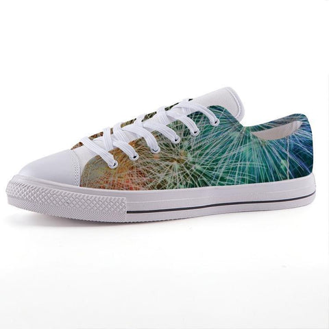 Printy6 Shoes 35 Maletropolis Custom Low-Top Pride Sneakers - Rainbow Fireworks