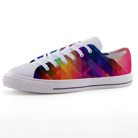 Printy6 Shoes 35 Maletropolis Custom Low-Top Pride Sneakers - Rainbow Prism