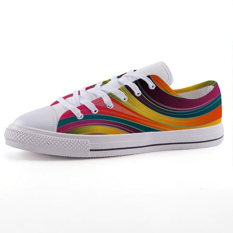 Printy6 Shoes 35 Maletropolis Custom Low-Top Pride Sneakers - Rainbow Swirl