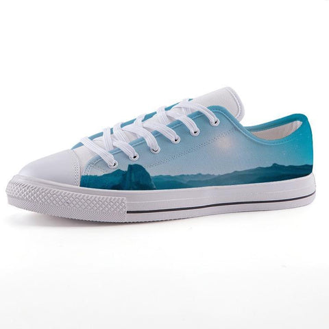 Printy6 Shoes 35 Maletropolis Custom Low-Top Sneakers - Blue Scene