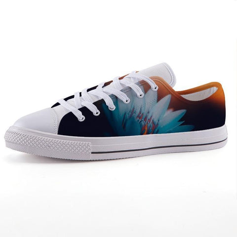 Printy6 Shoes 35 Maletropolis Custom Low-Top Sneakers - Blue Water Lily