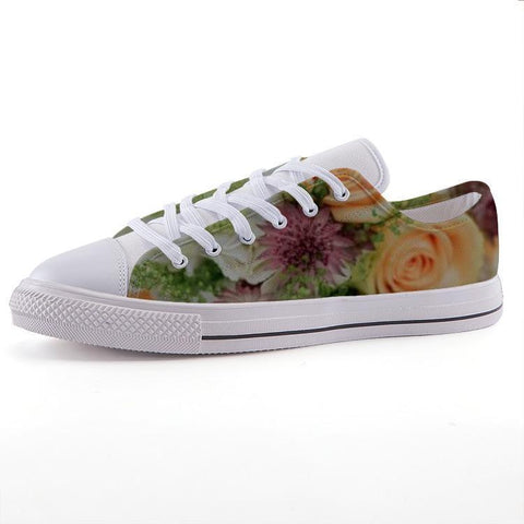 Printy6 Shoes 35 Maletropolis Custom Low-Top Sneakers - Bouquet