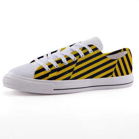 Printy6 Shoes 35 Maletropolis Custom Low-Top Sneakers - Caution