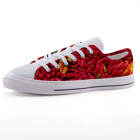 Printy6 Shoes 35 Maletropolis Custom Low-Top Sneakers - Chile Peppers