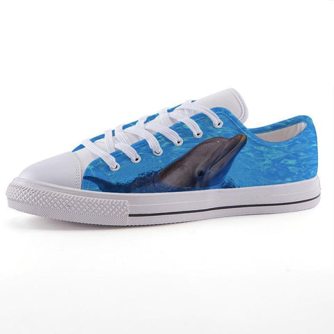 Printy6 Shoes 35 Maletropolis Custom Low-Top Sneakers - Dolphin