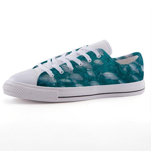 Printy6 Shoes 35 Maletropolis Custom Low-Top Sneakers - Fish