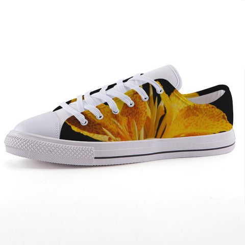 Printy6 Shoes 35 Maletropolis Custom Low-Top Sneakers - Gold Lily