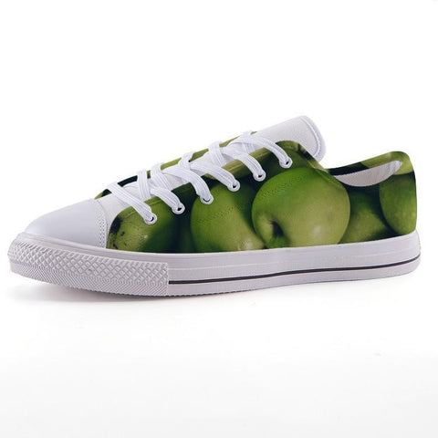 Printy6 Shoes 35 Maletropolis Custom Low-Top Sneakers - Granny Smith Apples