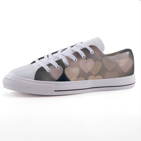 Printy6 Shoes 35 Maletropolis Custom Low-Top Sneakers - Hearts