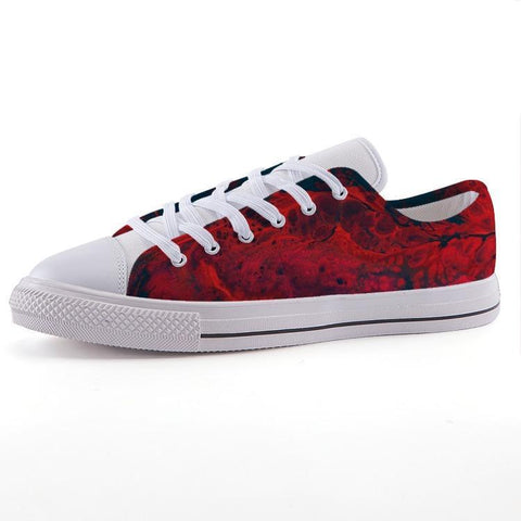 Printy6 Shoes 35 Maletropolis Custom Low-Top Sneakers - Lava