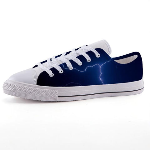 Printy6 Shoes 35 Maletropolis Custom Low-Top Sneakers - Lightning