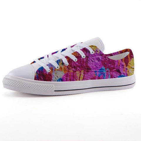 Printy6 Shoes 35 Maletropolis Custom Low-Top Sneakers - Pink Wall
