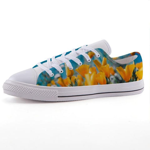 Printy6 Shoes 35 Maletropolis Custom Low-Top Sneakers - Poppies