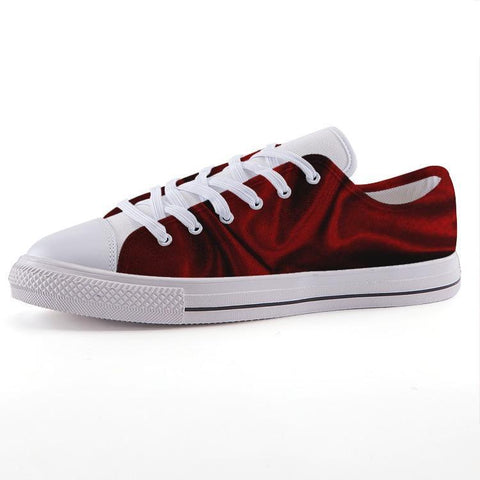 Printy6 Shoes 35 Maletropolis Custom Low-Top Sneakers - Red Wave