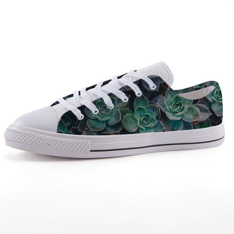 Printy6 Shoes 35 Maletropolis Custom Low-Top Sneakers - Succulents