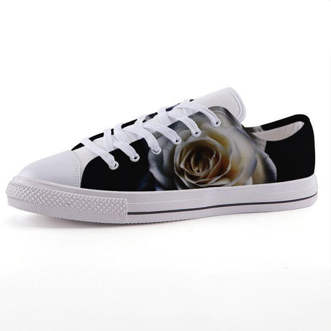 Printy6 Shoes 35 Maletropolis Custom Low-Top Sneakers - White Rose