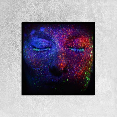 Printy6 Wall art 30cm×30cm Single Panel Canvas Print Wall Art - Glitter Face
