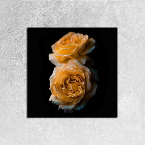 Printy6 Wall art 30cm×30cm Single Panel Canvas Print Wall Art - Yellow Roses