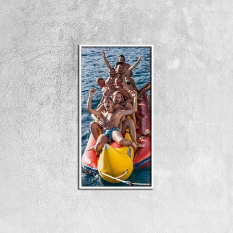 Printy6 Wall art 30cm×60cm Single Panel Canvas Print Wall Art - Banana Boat
