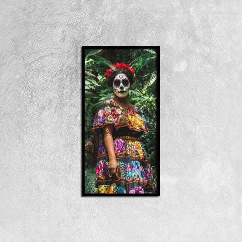 Printy6 Wall art 30cm×60cm Single Panel Canvas Print Wall Art - Catrina