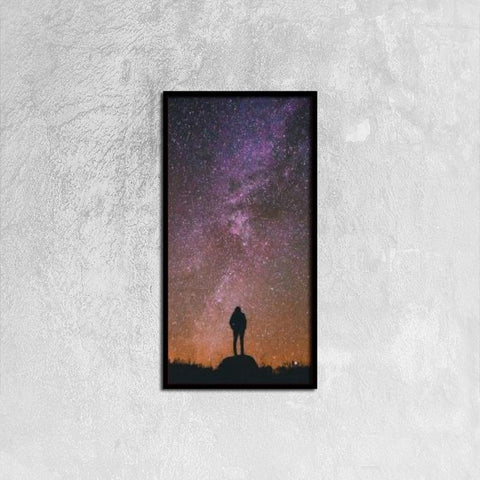 Printy6 Wall art 30cm×60cm Single Panel Canvas Print Wall Art - Cosmos