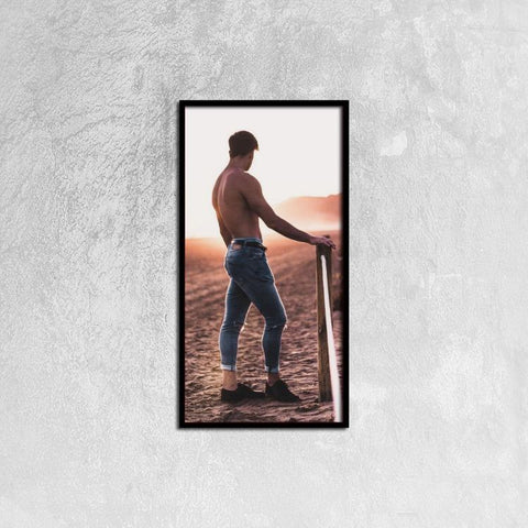 Printy6 Wall art 30cm×60cm Single Panel Canvas Print Wall Art - Dusty