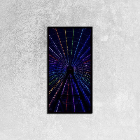 Printy6 Wall art 30cm×60cm Single Panel Canvas Print Wall Art - Ferris Wheel