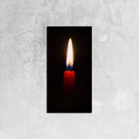 Printy6 Wall art 30cm×60cm Single Panel Canvas Print Wall Art - Red Candle