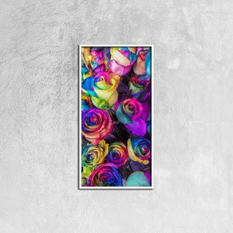 Printy6 Wall art 30cm×60cm Single Panel Canvas Print Wall Art - Roses