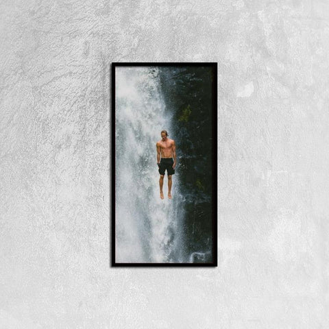 Printy6 Wall art 30cm×60cm Single Panel Canvas Print Wall Art - Waterfall