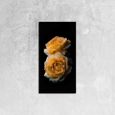 Printy6 Wall art 30cm×60cm Single Panel Canvas Print Wall Art - Yellow Roses