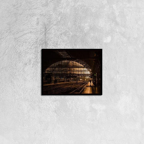 Printy6 Wall art 40cm×30cm Single Panel Canvas Print Wall Art - Berlin Train Station