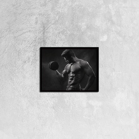 Printy6 Wall art 40cm×30cm Single Panel Canvas Print Wall Art - Weightlifter