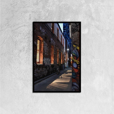 Printy6 Wall art 40cm×60cm Single Panel Canvas Print Wall Art - Alley