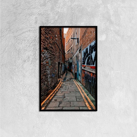 Printy6 Wall art 40cm×60cm Single Panel Canvas Print Wall Art - Narrow Street