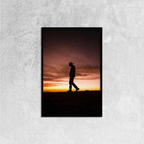 Printy6 Wall art 40cm×60cm Single Panel Canvas Print Wall Art - Sunset Hike