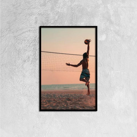 Printy6 Wall art 40cm×60cm Single Panel Canvas Print Wall Art - Volleyball