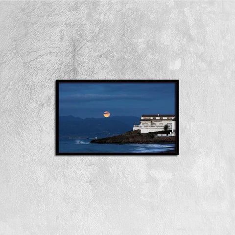 Printy6 Wall art 50cm×30cm Single Panel Canvas Print Wall Art - Moonrise