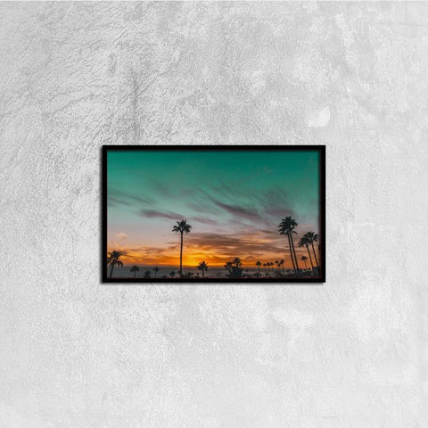 Printy6 Wall art 50cm×30cm Single Panel Canvas Print Wall Art - Sunset