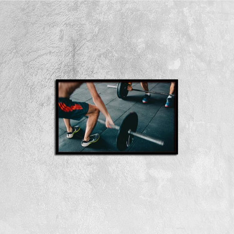 Printy6 Wall art 50cm×30cm Single Panel Canvas Print Wall Art - Weightlifting